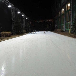 synthetic ice curling game