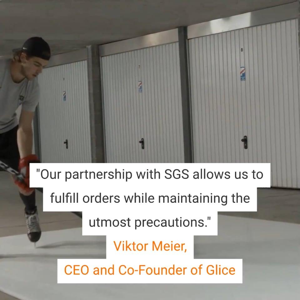 合成アイス安全プログラムを強化するために、GliceがSGSと提携しました