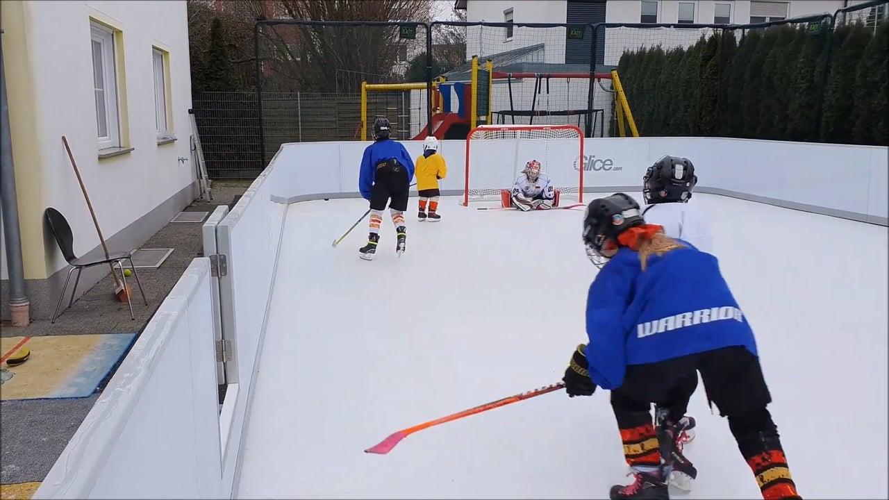 12-köpfige Familie skatet durch den Lockdown mit einer Kunsteisbahn von Glice