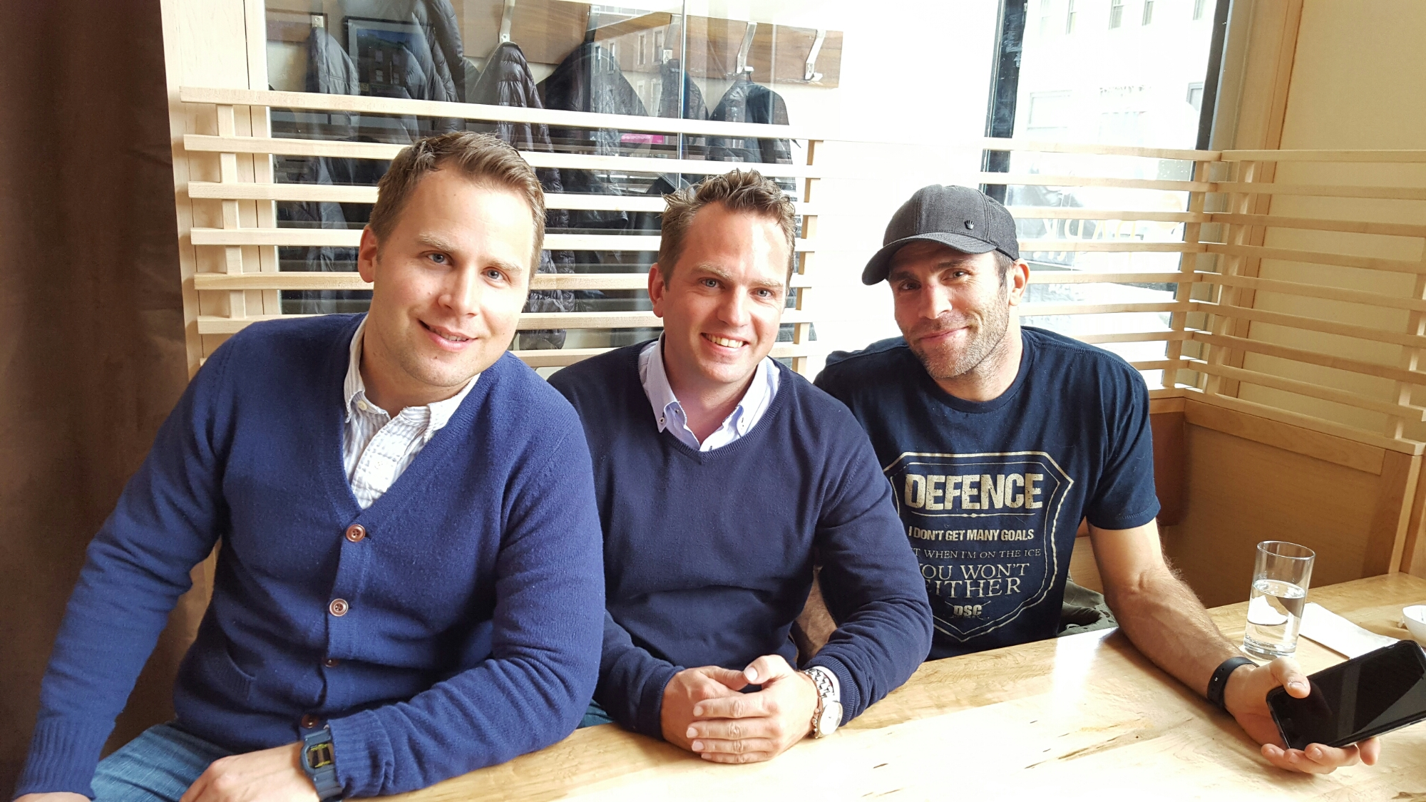 Glice® Synthetic Ice Rink Founders with NHL Defenseman Mike Weaver