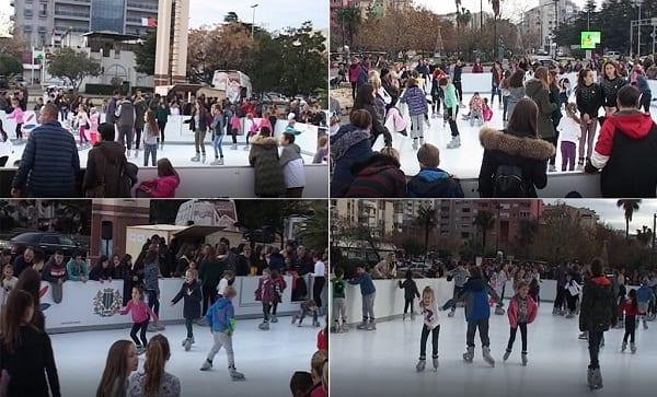 モンテネグロのバーに設置されたGlice® 合成アイスリンクには、1日あたり平均500人ものスケーターが訪れます