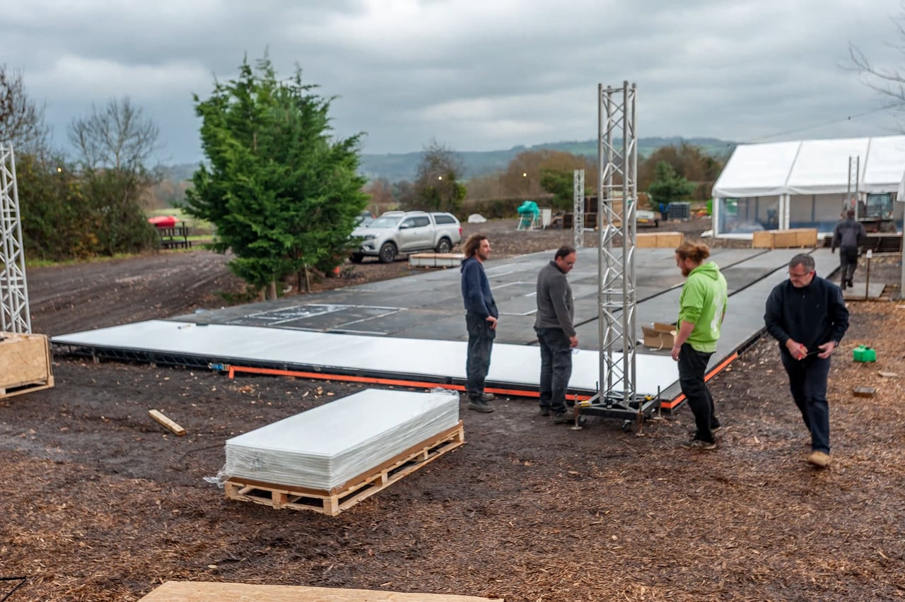 A Couple of Hands & Hours: Glice® Synthetic Ice Rinks Are Installed in Record Time