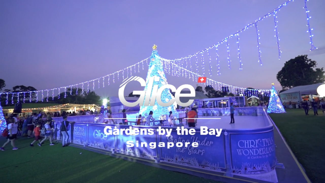 A Touch of Winter – Glice® Synthetic Ice Rink at Gardens by the Bay in Singapore