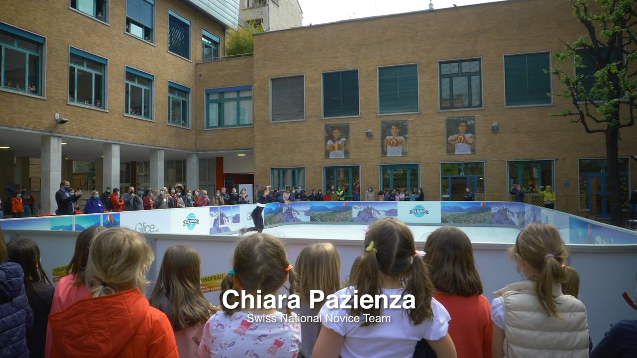 All Eyes on Glice Synthetic Ice Rink at Swiss School in Milan