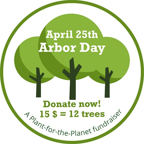 Glice and Plant-for-the-Planet Fundraiser for Arbor Day