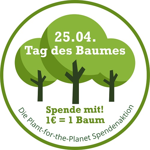 Glice und Plant-for-the-Planet Spendenaktion für den Tag des Baumes