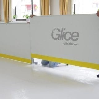 artificial ice rink mounting - Glicerink