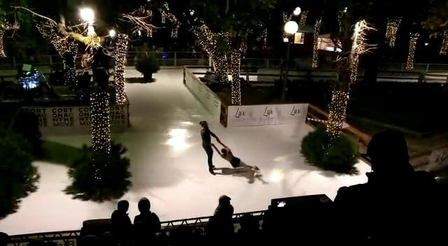 Beautiful Glice® Synthetic Ice Rink in Lovely Cortona, Tuscany