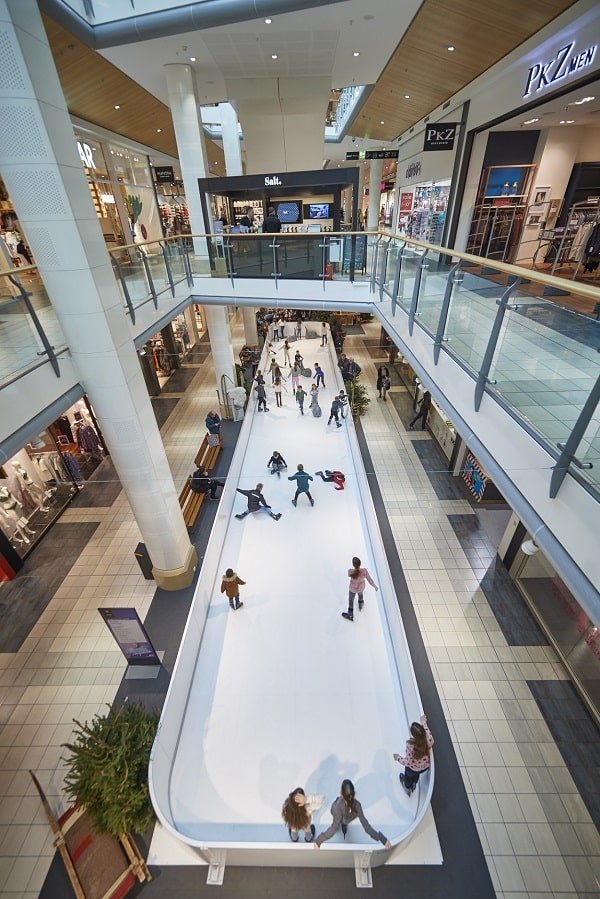 Beyond Shopping: Synthetic Ice Rink by Glice at Emmen Center in Switzerland