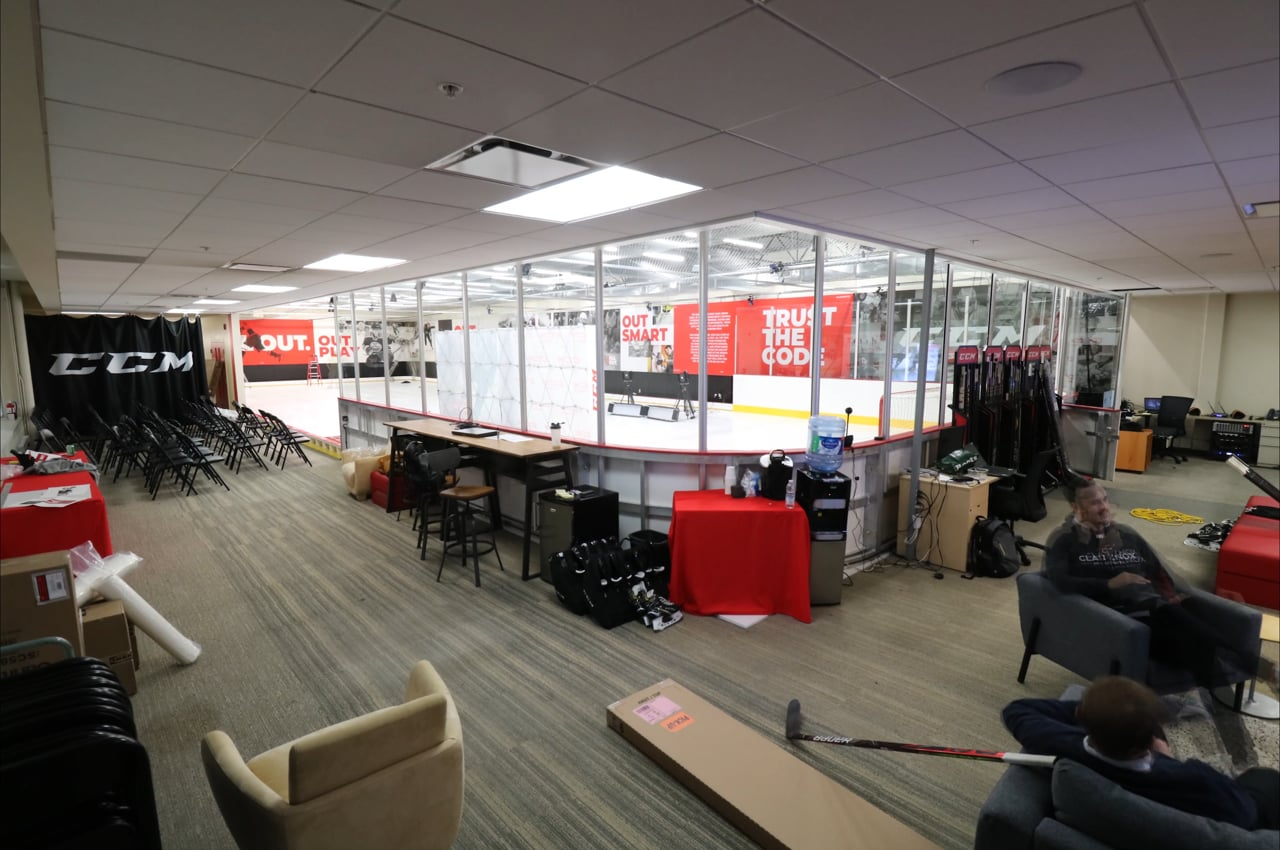 CCM Uses Glice Synthetic Ice for Performance Lab at Montreal Headquarters