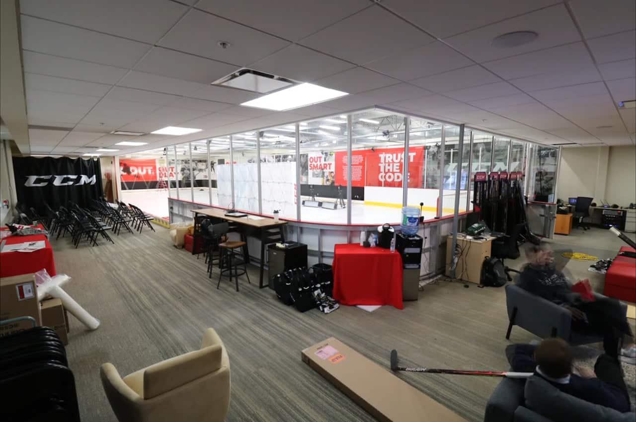 CCM kiest voor Glice Kunstijs voor hun Performance Lab in hoofdkantoor te Montreal.