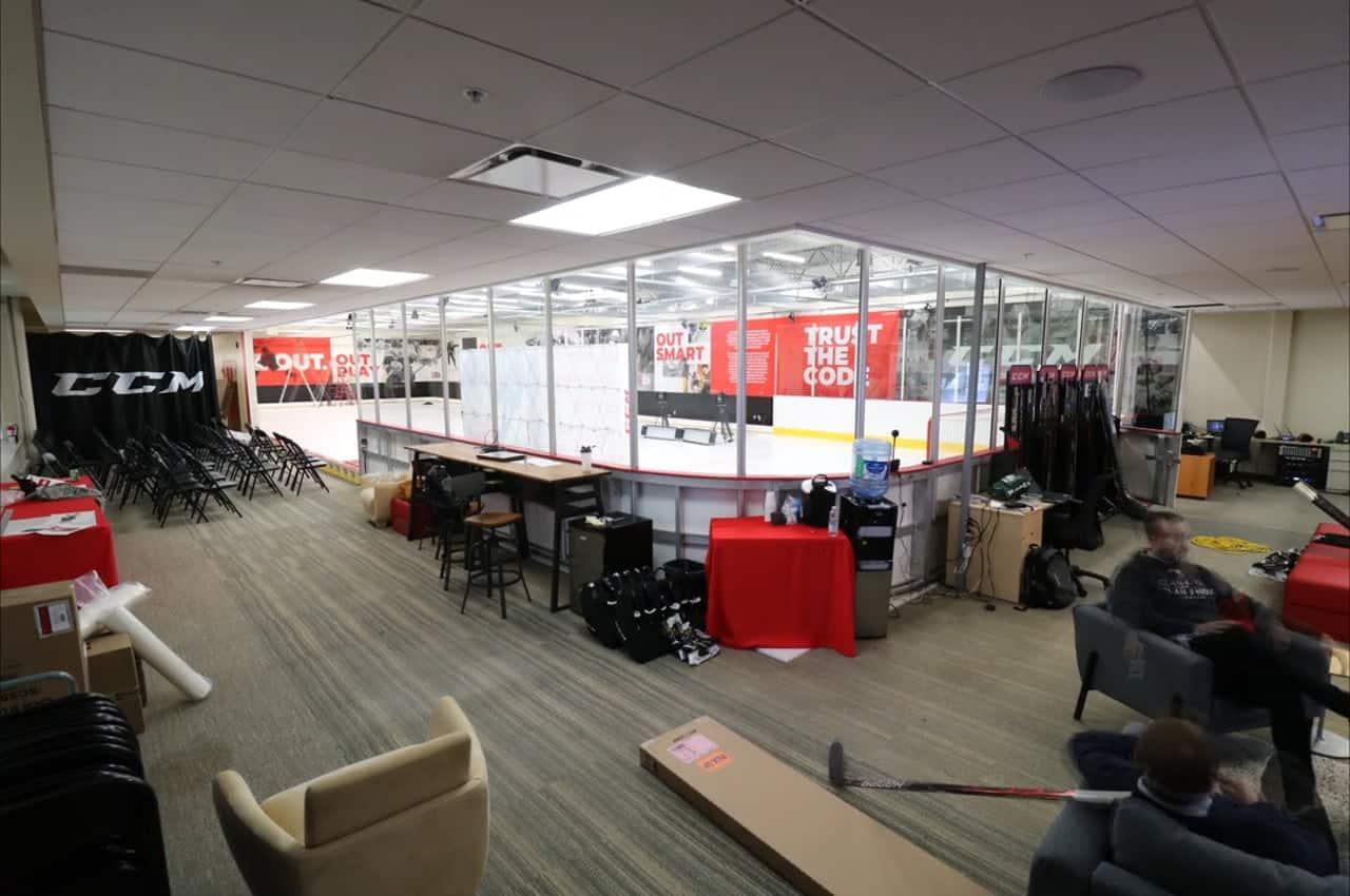 CCM usa o Gelo Sintético da Glice no Laboratório de Performance na sua sede em Montreal