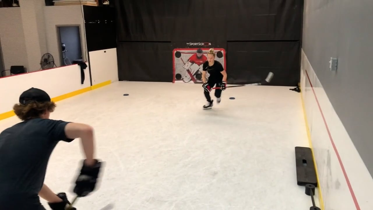 Canadian National Hockey Player Trains on Glice Synthetic Ice