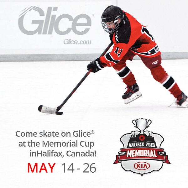 Come skate on Glice® synthetic ice at the Memorial Cup in Halifax, Canada! May 14 – 26