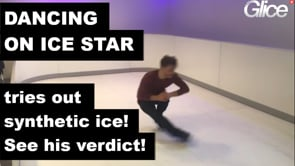 Dancing on Ice Star Joti Polizoakis Tries out Glice® Synthetic Ice in Munich
