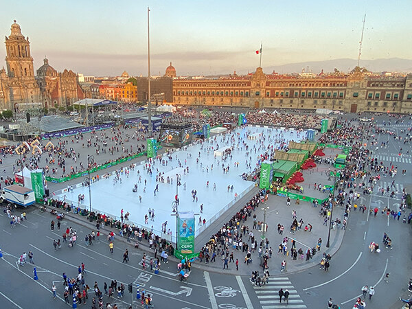 ECO-SKATING RINK REPLACES THE WORLD'S LARGEST ICE RINK IN MEXICO CITY