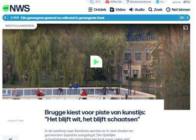 De stad Brugge pakt uit met een synthetische ijsbaan van Glice de VRT nam een kijkje ter plaatse.