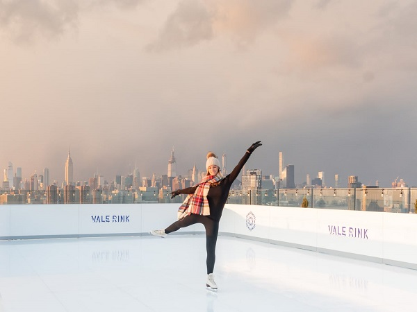 Rooftop Glice Eco-Rink with Incredible New York Panorama at the William Vale