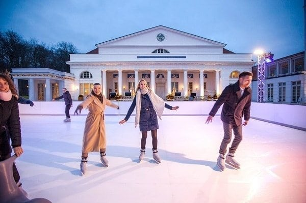 Eco-friendly Glice® Synthetic Ice Rink at the Classy Grand Hotel Heiligendamm in Germany