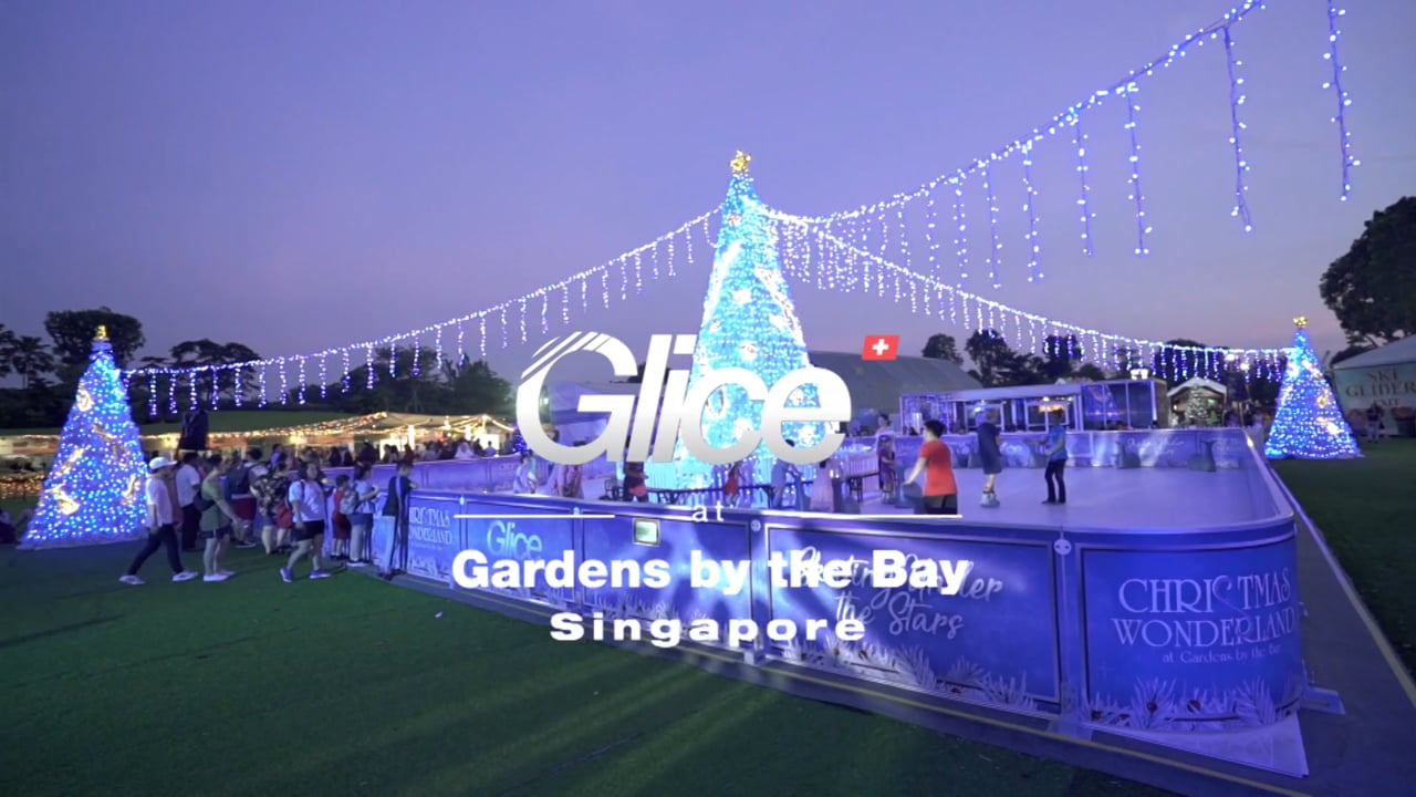 Ein Hauch von Winter – Glice® synthetische Eisbahn in den Gardens by the Bay in Singapore