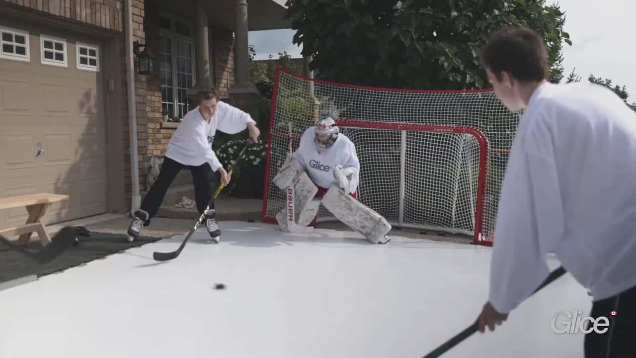 Eishockey Legenden über Glice Home Synthetikeis in Kanada