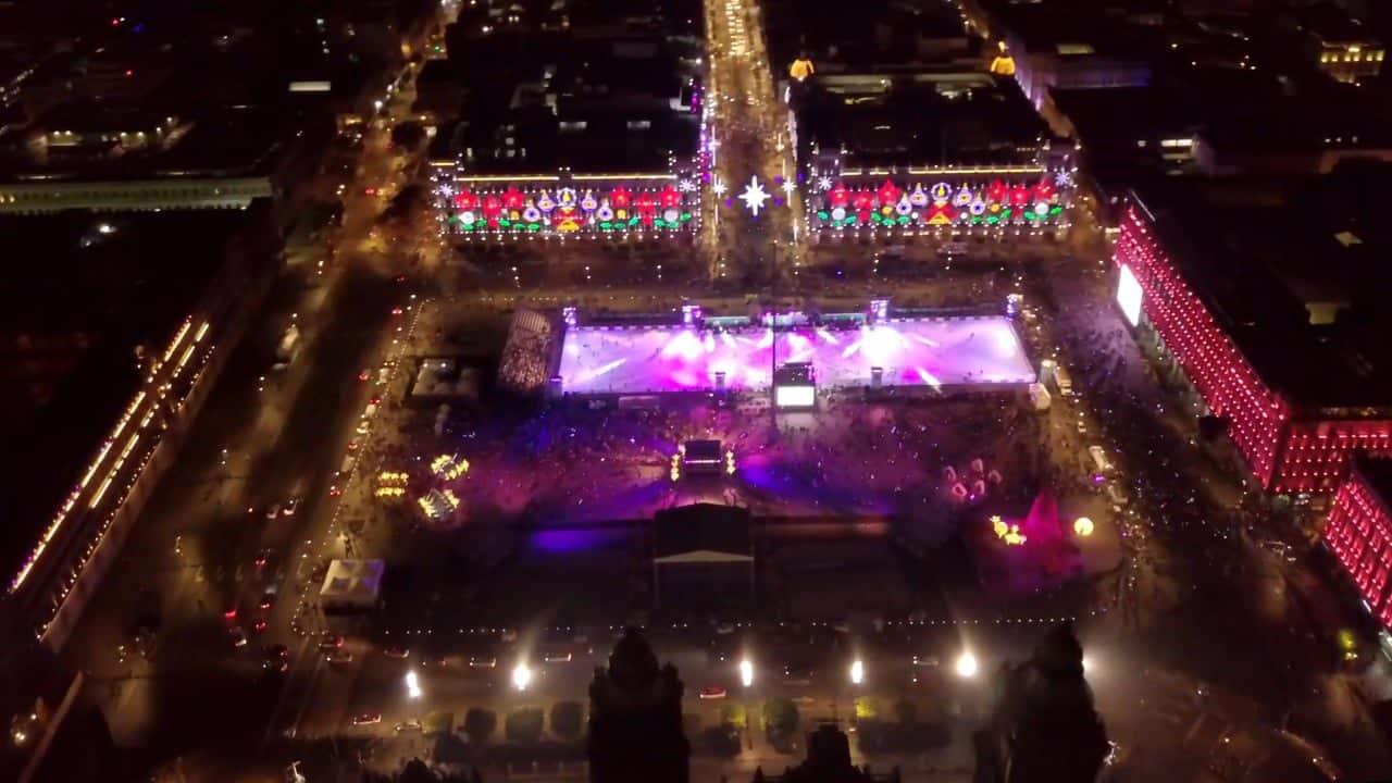 Eröffnung der grössten Eislaufbahn der Welt: Glice Eco-Bahn in Mexiko-Stadt