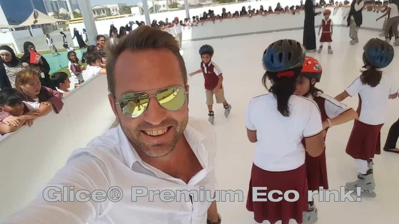 Erfinderischer Sportunterricht: Glice® Kunsteisbahn an der Next Generation School in Dubai