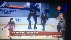 Fernsehsender El Doce TV strahlt Clip über erste Glice® synthetische Eisbahn in Argentinien aus