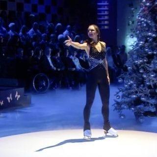 Figure skating athlete Sarah Meier on synthetic ice on Swiss TV
