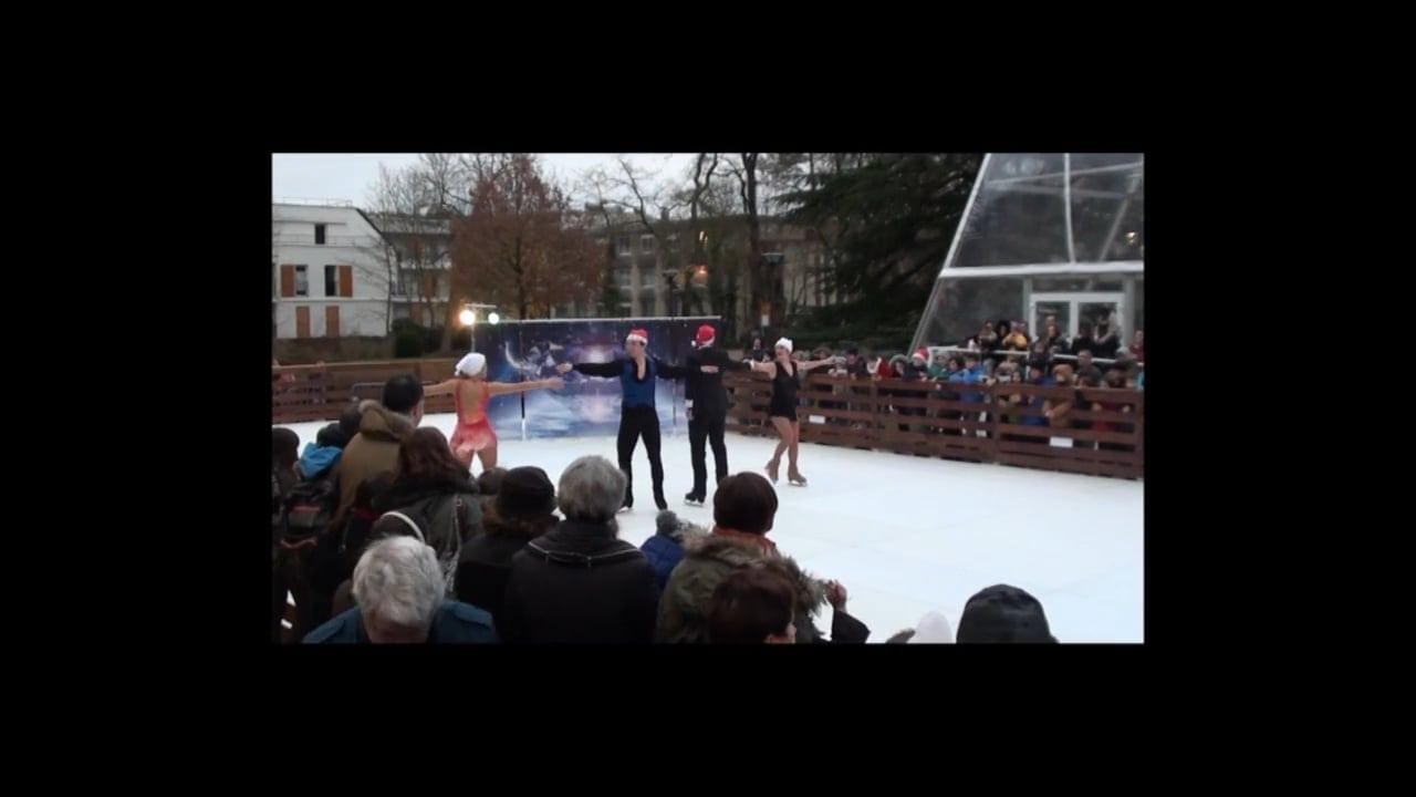 Französische Eiskunstläufer bieten atemberaubende Performance auf Glice® synthetischer Eisbahn