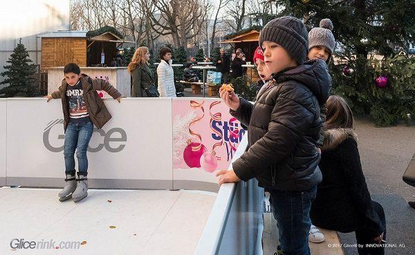 Un pista in ghiaccio artificiale Glice® sarà presente per la stagione invernale allo shopping center svizzero Stücki