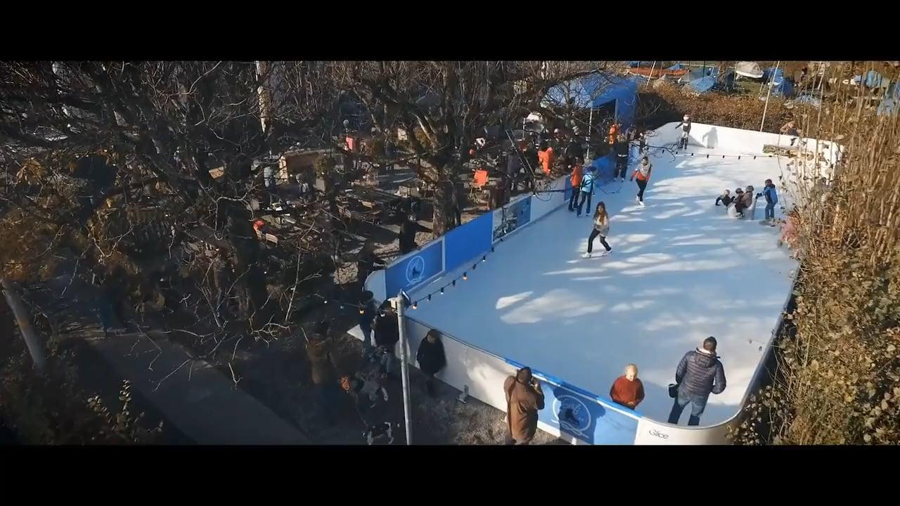 Glice® Artificial Ice Rink Enchants Guests at Swiss Schifflände Restaurant
