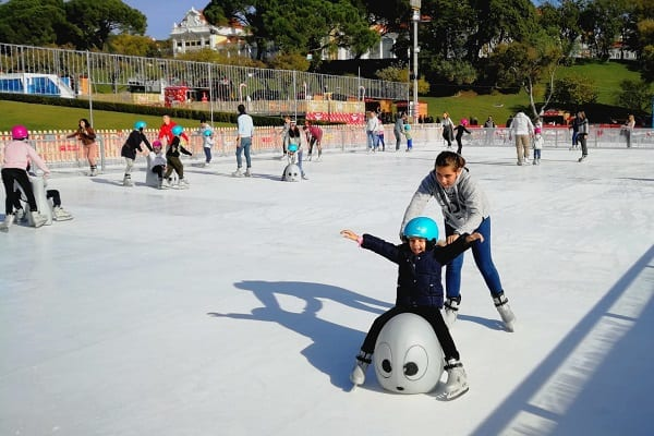 Glice® Artificial Ice Rink at Prestigious Eduardo VII Park in Lisbon