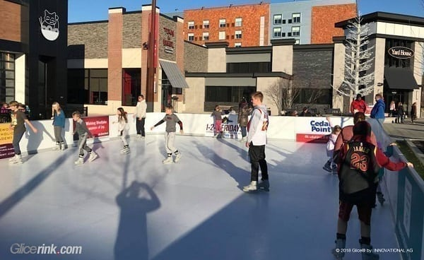 Glice® Synthetic Ice Rink at Crocker Park, Cleveland Is Popular Year-Round