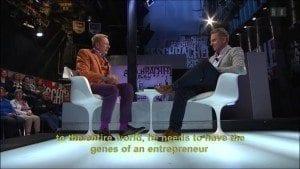 Co-founder of Glice® synthetic ice on swiss television