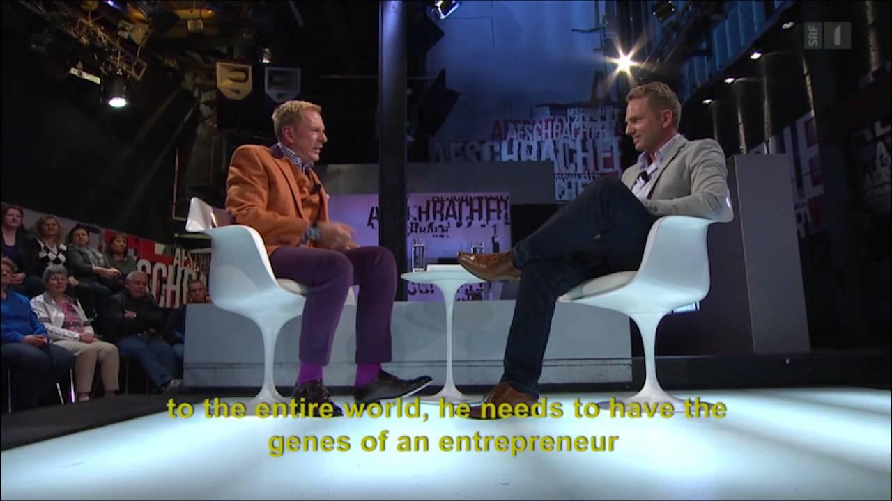 Cofundador de Glice® en la televisión Suiza