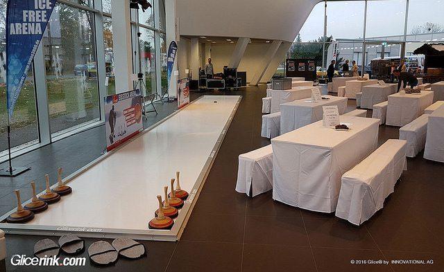 Le piste sintetiche per il curling Glice® Eisstock Tracks al Sonne3000 Events & Erlebnisse