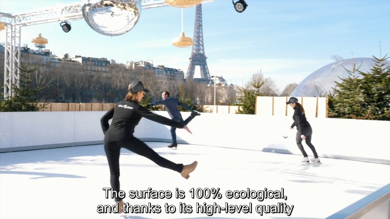 Glice® Invites Clients to Test a Synthetic Ice Rink in Front of the Eiffel Tower