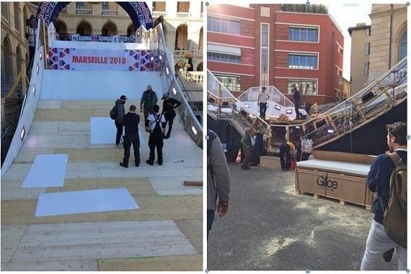 Glice® als Teil der Red Bull Crashed Ice Challenge in Marseille, Frankreich 2018