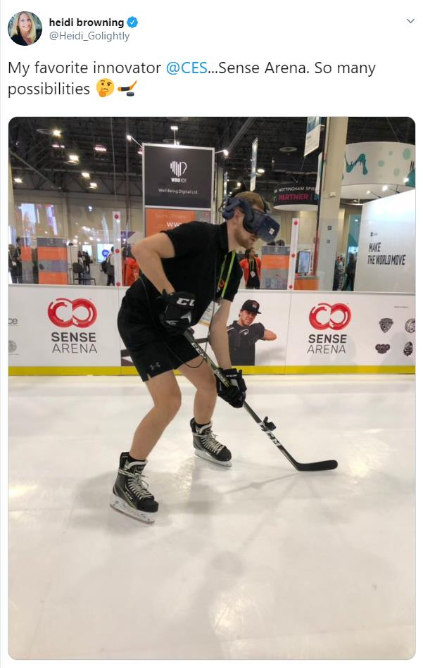 Glice® Artificial Ice Rink Seen on Tweet by NHL Chief Marketing Officer Heidi Browning
