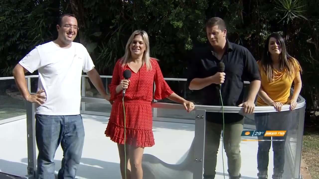 Glice® Kunsteisbahn im israelischen Fernsehen