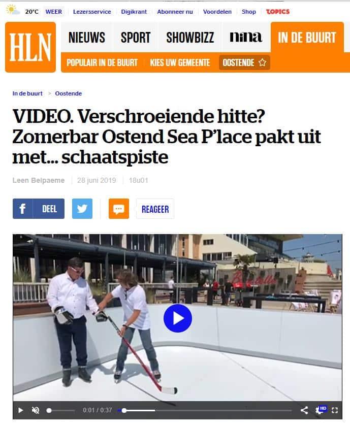 Glice® Kunstijs is vermeld in de Belgische krant Het Laatste Nieuws