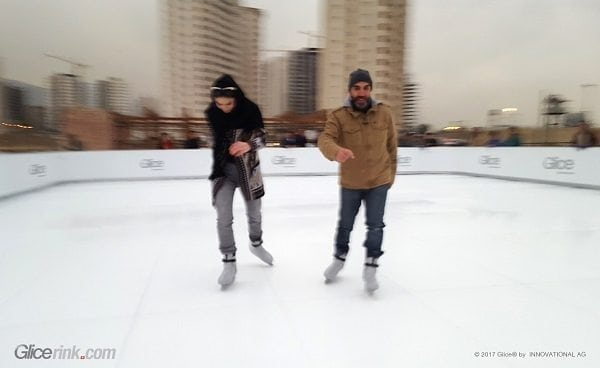 Glice® Outdoor Ice Skating Rink Becomes Symbol for Opening of Iran 1