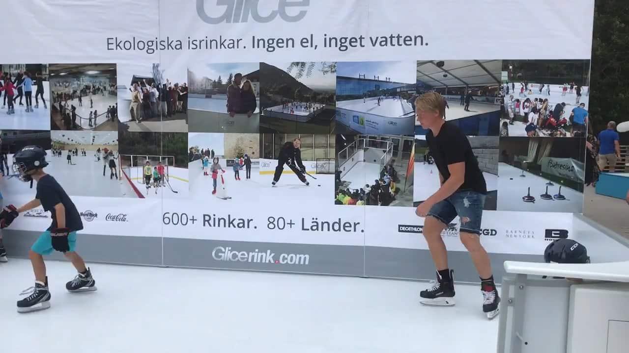 Glice® Schweden Eröffnung voller Erfolg: Emil Johansson begeistert von der Kunsteisbahn