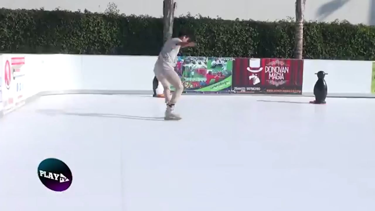Glice® synthetic icerink on Peru's TV