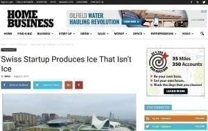 Glice® Synthethic Ice Rink article in American Business Magazine