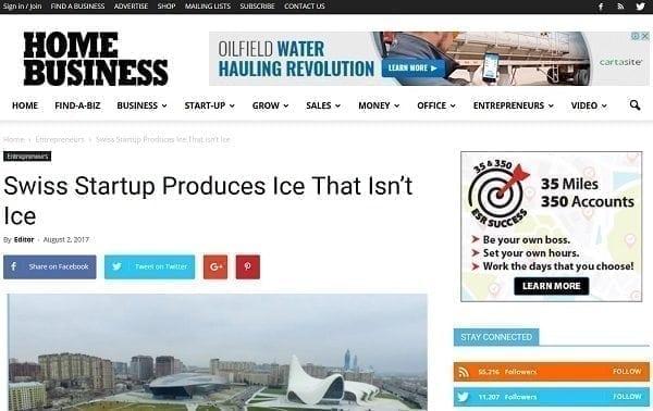 Artikel über Glice® synthetische Eisbahnen veröffentlicht in amerikanischem Business Magazine