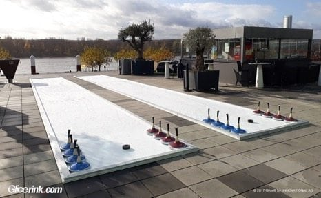 Try Out Glice® Synthetic Eisstock Curling at Luxurious German Hotel by the River Rhine