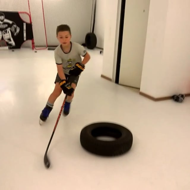 Glice® Synthetic Ice Pads Set Up in Swiss Home for Training Use