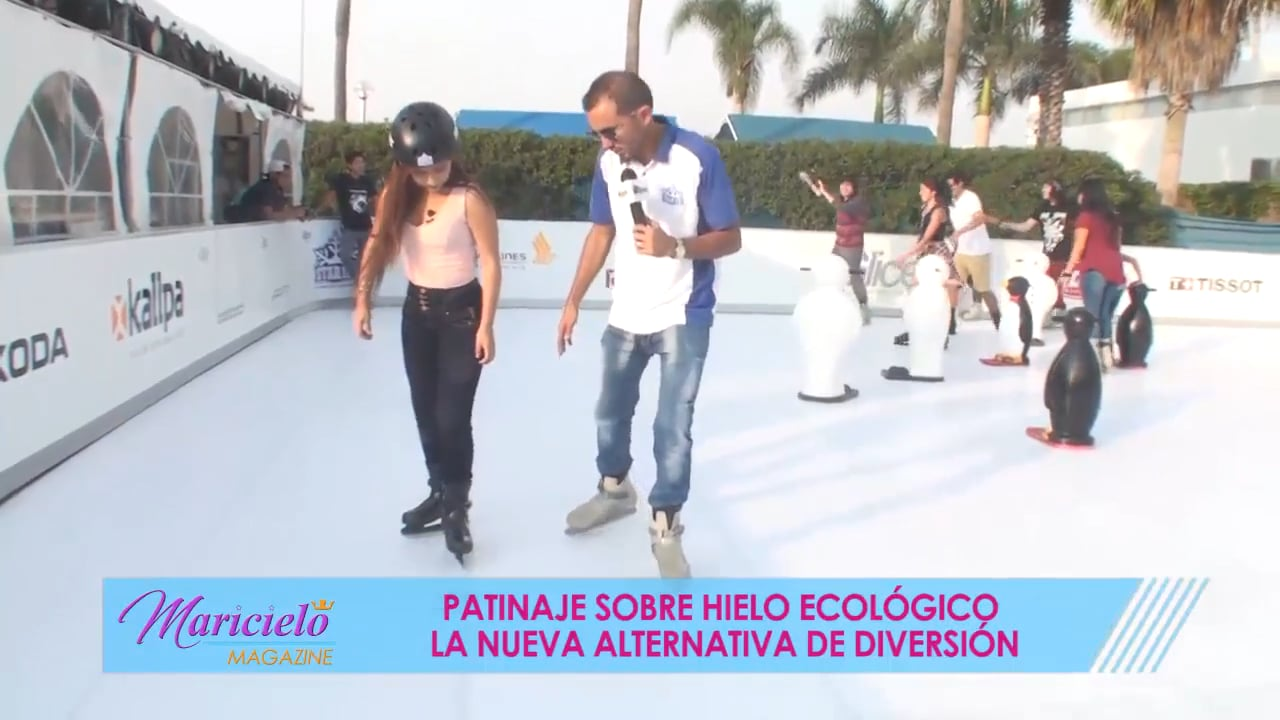 Glice® Synthetic Ice Rink Adds to Leisure Activities in Lima and Gets a Mention on Peruvian TV